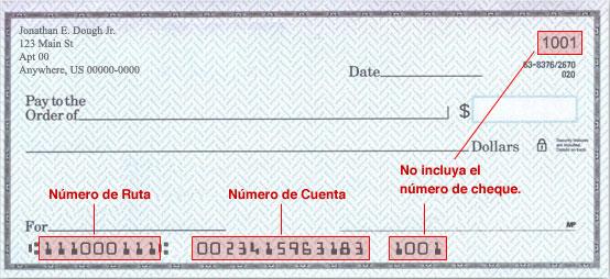 Numero De Ruta Banca Oriental: el número de ruta de su banco y su número de cuenta en sus cheques