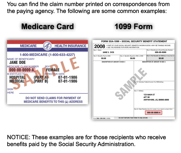 The Claim Number Can Be Found On A Medicare Card Or 1099 Form.